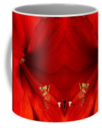 Orange Amaryllis Hippeastrum Close-up Double Coffee Mug