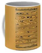 Orange And Black Abstract Coffee Mug