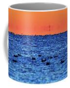 Orange And Blue Morning 4  Coffee Mug