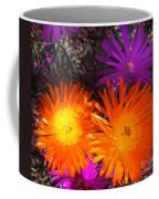 Orange And Fuchsia Color Flowers Coffee Mug