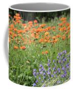 Orange And Purple Dream Flowers Coffee Mug
