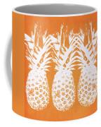 Orange And White Pineapples- Art By Linda Woods Coffee Mug