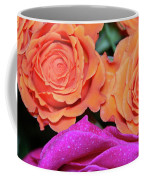 Orange And White With Pink Tip Roses Coffee Mug