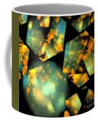 Orange Aqua Honeycomb Coffee Mug