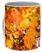 Fall Of Orange Leaves Coffee Mug