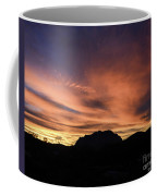 Orange Brushstrokes Over Picket Post Coffee Mug