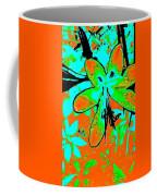 Orange Burst Flower Coffee Mug