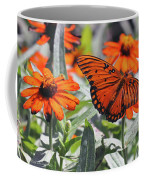 Orange Butterfly Coffee Mug
