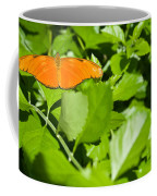 Orange Butterfly On Foliage Coffee Mug