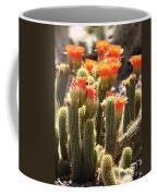 Orange Cactus Blooms Coffee Mug