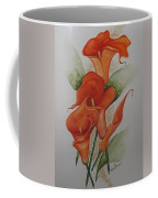 Orange Callas Coffee Mug