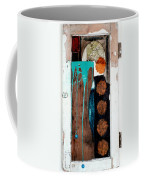 Orange Circles On Slate Coffee Mug