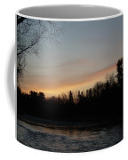 Orange Clouds Mississippi River Dawn Coffee Mug