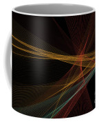 Orange Computer Graphic Line Pattern Coffee Mug