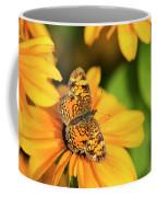 Orange Crescent Butterfly Coffee Mug
