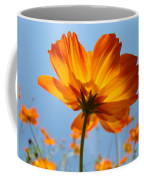 Orange Floral Summer Flower Art Print Daisy Type Blue Sky Baslee Troutman Coffee Mug