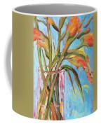 Orange Gladiolus In Vase Coffee Mug