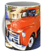 Orange Gmc Pickup Truck In Idyllwild Coffee Mug