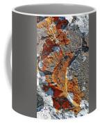 Orange Lichen Coffee Mug