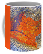 Orange Lichen Coffee Mug by Heiko Koehrer-Wagner