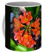 Orange Trumpet Flowers At Pilgrim Place In Claremont-california Coffee Mug