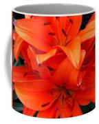 Orange Lily Closeup Digital Painting Coffee Mug