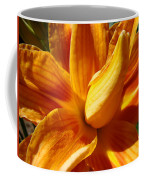 Orange Lily Flower Art Print Summer Lilies Baslee Coffee Mug