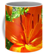 Orange Lily Flower Art Print Summer Lily Garden Baslee Troutman Coffee Mug