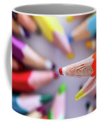 Orange Pencil Coffee Mug