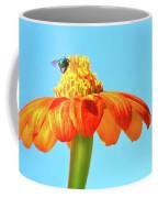 Orange Pop Flower Cafe Coffee Mug