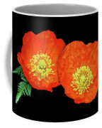 Orange Poppy Collage Cutout Coffee Mug