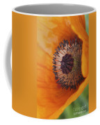 Orange Poppy With Texture Coffee Mug