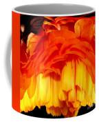 Orange Ranunculus Polar Coordinate Coffee Mug
