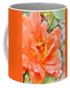 Orange Rose Raindrops Coffee Mug