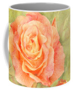Orange Rose With Old Paint Texture Background Coffee Mug