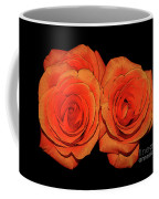 Orange Roses With Hot Wax Effects Coffee Mug