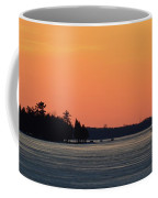 Orange Sky Above The Trees  Coffee Mug