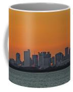 Orange Sky During Sunset With The Boston Skyline Coffee Mug