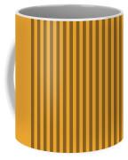 Orange Striped Pattern Design Coffee Mug