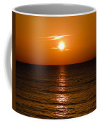 Orange Sunrise Over A Florida Beach Coffee Mug