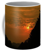 Orange Sunset With Tree Silhouette Coffee Mug