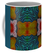 Orange Turquoise Floral Gem Coffee Mug