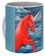 Orange Unicorn Coffee Mug