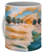 Oranges In The Snow-landscape Painting By V.kelly Coffee Mug