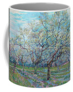 Orchard With Blossoming Plum Trees   Coffee Mug