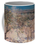 Orchard With Flowering Apple Trees Coffee Mug
