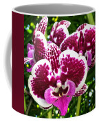 Orchid Hanging In Palms Coffee Mug