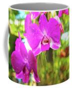 Orchid Oil Painting Coffee Mug