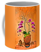 Orchids In Basket Coffee Mug