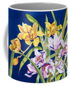 Orchids In Blue Coffee Mug